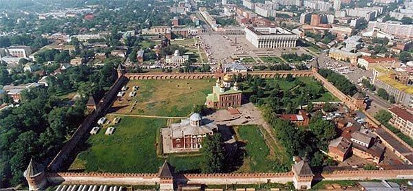 Тульский кремль, схема проезда